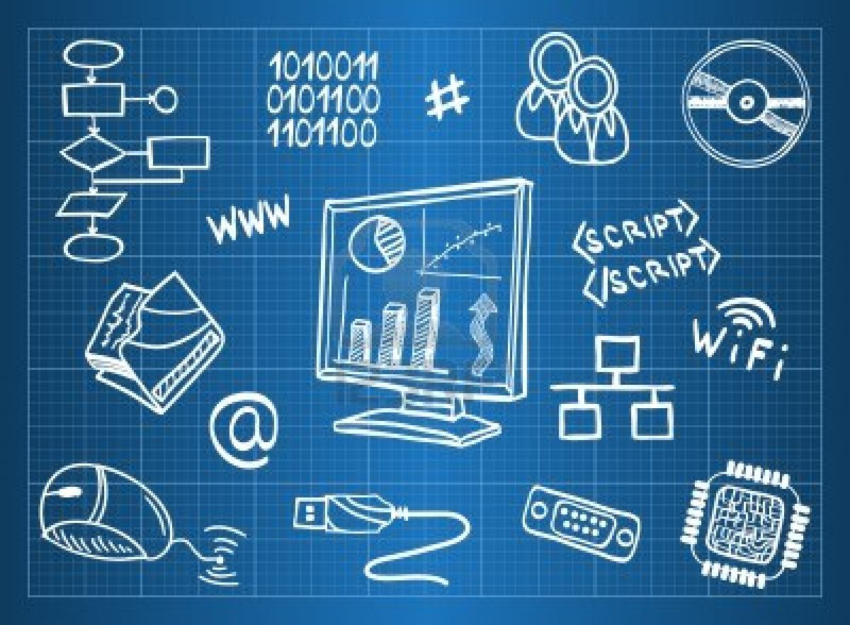 13766033-blueprint-of-computer-hardware-and-information-technology-symbols-sketch-style